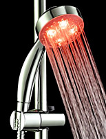 Red ABS  LED Color Changing Hand Shower