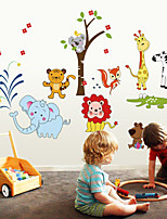 Wall Stickers Wall Decals Style Cute Lion Elephant PVC Wall Stickers