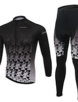 WEST BIKING® Men's MTB Clothing Suit Wicking Cycling Ancient Pattern Long Suit Breathable Long Sleeves Long Pants