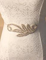 Satin/ Tulle Wedding/Party Bride Elegant Luxury Sash With Rhinestone