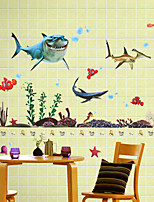 decalques de parede adesivos de parede, parede animados finding nemo tubarão adesivos em pvc