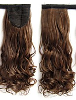 Color Synthetic Drawstring Ribbon Wavy Curly Ponytails Hair Extensions20inch 100g