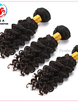 3 bunter topp qualtity billig pris opprinnelige menneskehår naturlig farge dyp bølge jomfru brasilianske hår weft