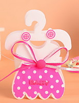 Nonwoven Fabric Cute Baby Dress Design Candy Favor Bags  Set of 12