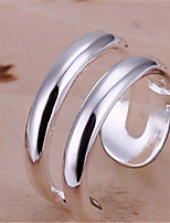 Classic All-Match Double Lines Ring(Silver)(1Pc)