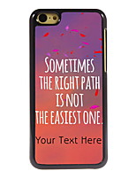 Personalized Gift The Right Path Design Aluminum Hard Case for iPhone 5C
