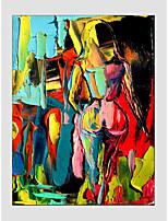 pittura a olio moderna figura di stile, materiale tela con telaio teso pronto da appendere formato: 60 * 90cm.