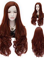 Nrw Natural Wave Brown Color Long Hair Wigs Synthetic Wave Hair Wigs Fashion Style
