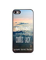 Personalized Gift Nothing Comes Easy Design Aluminum Hard Case for iPhone 4/4S