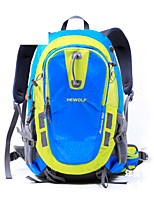 Hiking & Backpacking Pack/Rucksack Camping & Hiking Waterproof / Rain-Proof 30 L Green / Light Blue / Orange Nylon / 600D Ripstop Hewolf