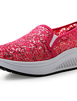 Women's Shoes Lace Low Heel Round Toe Fashion Sneakers Casual More Colors Available