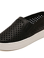Women's Shoes Flat Heel Round Toe/Closed Toe Loafers Outdoor/Casual Black/White