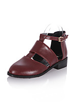 Women's Shoes Chunky Heel Pointed Toe/Closed Toe Flats Outdoor/Office & Career/Dress/Casual Black/Brown
