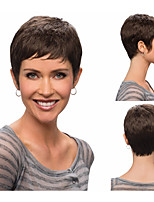 Short Straight Synthetic Wigs With Bangs for Women