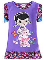 Girl's Dresses Cartoon Doc McStuffins Printing Children Dresses(Random Printed)