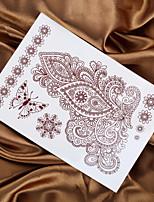 4PCS 2015 Indian Henna Tattoo Mendhi Painting Tattoo Temporary Tattoo Sticker Hand Tatto Fake Tattoo Body Taty