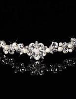 Hårband/Blommor/Kransar Headpiece Dam/Blomflicka Bröllop/Speciellt Tillfälle Sterling Silver/Legering Bröllop/Speciellt Tillfälle 1 st.