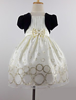 Flower Girl Dress - Stile Principessa Cocktail Maniche corte Tulle/Velluto