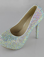 Women's Shoes Leatherette Stiletto Heel Symphony Crystals Pumps/Heels Wedding/Party & Evening/Dress White