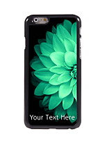 Personalized Gift Half Beautiful Flower Design Aluminum Hard Case for iPhone 6