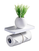 CRW Contemporary Painting Wall Mounted Toilet Paper Holders  with Shelves