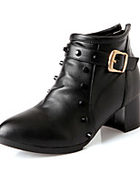 Women's Shoes Chunky Heel Fashion Boots/Bootie/Pointed Toe Boots Dress Black/White