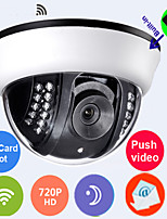 Dome IP Camera 1.0 MP Day Night Motion Detection WirelessBuilt-inTFcard 8GB