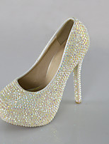 Women's Shoes Symphony Crystals Pumps/Heels Wedding/Party & Evening/Dress White