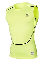PRO Super Fit Fasion Bright Color High Elastic Fitness Runing and Cycling Vest Male