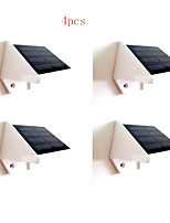4pcs HRY® 4LEDS White Color Light SolarWallLight Solar Lights