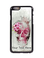 Personalized Gift Skull and Rose Design Aluminum Hard Case for iPhone 6 Plus