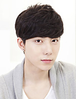 South Korea Fashion Handsome Boy Short Hair Inclined Liu Haixiu Face Bulk Short Straight Hair Wig