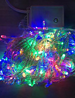 4W 10 Meter Long 100pcs LED String Light with AC110-220V Input PVC Transparent, Red/Green/Blue/Yellow Changing Color