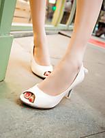 Women's Shoes Stiletto Heel Heels/Open Toe Sandals Dress Pink/White