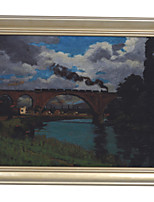 Railroad Bridge over the Marne at Joinville Framed Canvas Print