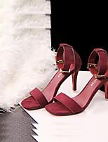 Women's Shoes Leatherette Stiletto Heel Heels/Open Toe Sandals Casual Multi-color