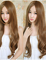 Japan And South Korea Explosion Models of High-Quality High-Temperature Silk Brown Long Curly Hair