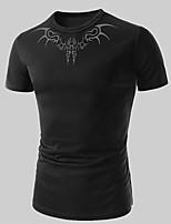 Men's Casual/Sport Print Short Sleeve Regular T-Shirt