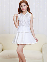 Women's Lace White Skirts , Casual Above Knee
