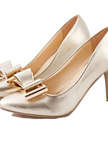 Women's Shoes Stiletto Heel Pointed Toe Pumps/Heels Dress Silver/Gold