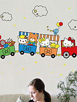 Wall Stickers Wall Decals,Kitty Animal Train  PVC Wall Stickers