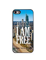 Personalized Gift I am Free Design Aluminum Hard Case for iPhone 4/4S