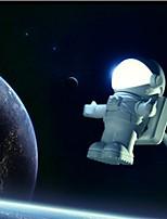 nouvelle lumière arrvial usb astronaute / lampe mignon astronaute pc conduit la lumière la nuit la lumière d'urgence