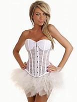 Women's White Slimming Boned Bustier Top Shapewear Waist Training Corset Slimming Cincher Body Shaper Underwear