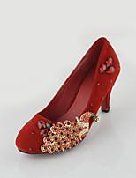 Women's Shoes Kitten Heel Heels Pumps/Heels Wedding/Party & Evening/Dress Red