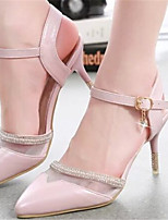 Women's Shoes Stiletto Heel Pointed Toe Pumps/ Dress Pink/White