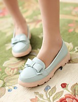 Women's Shoes Low Heel Heels/Round Toe Pumps/Heels Office & Career Blue/Pink/Purple/White