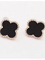 Golden Alloy Wintersweet Stud Earrings