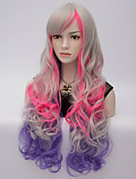 European And American Fashion Explosion Models Colorful Gradient Wig