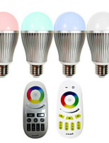 1 pcs E26/E27 9 W Integrate LED 600-700 LM K Color-Changing Dimmable/Remote-Controlled LED Smart Bulbs AC 85-265 V